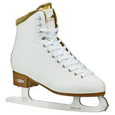 Lake Placid Whitney Women's Traditional Figure Ice Skate - White (Size 10)