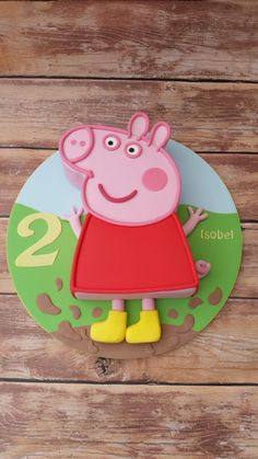 Peppa Pig Cake www.cakesbykaren.co.uk