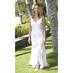 Queen Keopuolani Hawaiian Wedding Dress   Alii Collection Hawaiian Print Beach  Wedding Dress (Apparel)