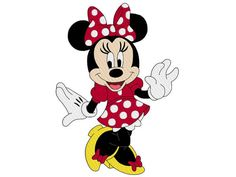 Minnie Mouse from Minnie Mouse Coloring Pages. Minnie mouse cartoon coloring pages are interesting media for children to learn coloring subject. Mini mouse is a female mouse cartoon character in th. Mickey Minnie Mouse, Mickey Mouse E Amigos, Minnie Mouse Cartoons, Mickey Mouse And Friends, Disney Mickey, Disney Cars, Minnie Mouse Clipart, Pink Minnie, Cartoon Cartoon