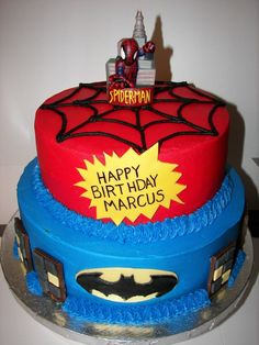 Superhero With Spiderman And Batman  on Cake Central