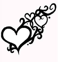 Would like this tattoo on the back of my neck, small  big heart represents my marriage; small heart for each son. Will add a daisy to represent the baby I lost, & add another small heart for each child I have in future.