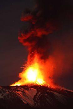 Etna Volcano Erupts ~ 4 #etna #sicilia #sicily #sicile