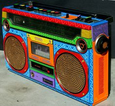 colorful boombox