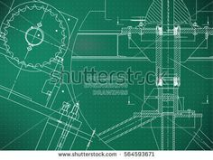 Blueprints. Mechanical construction. Technical Design. Engineering illustrations. Banner. Light green. Points    #bubushonok #art #bubushonokart #design #vector #shutterstock  #technical #engineering #drawing #blueprint   #technology #mechanism #draw #industry #construction #cad