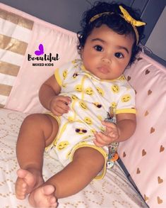 pretty mixed babies Kids Fashion - Mary's Secret World Cute Mixed Babies, Cute Black Babies, Black Baby Girls, Beautiful Black Babies, Cute Little Baby, Pretty Baby, Cute Baby Girl, Beautiful Children, Little Babies
