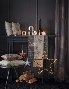 Christmas Eleganz mit Kupfer - Kissen 5206, 5202, 5201, 5204 / Läufer 5203, 5202 / Ösenschal CENTRO