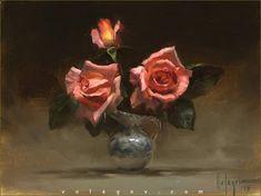 """Small Vase"" by Vladimir Volegov, painting , cm, oil on canvas Painting People, Figure Painting, Dream Painting, Flower Vases, Flower Art, Vladimir Volegov, Paintings Famous, Painted Jars, Still Life Art"