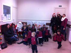 El Pare Noel va visitar els pares i mares de l'AMPA.