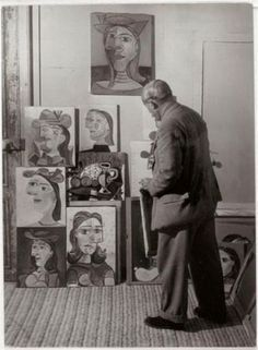 HERE'S THE OLD ASSHOLE, SURVEYING HIS DEVIOUS CARTOONS, WITH WHICH HE TRICKED THE STUPID INTO PAYING MILLIONS FOR. SLY DUDE.--SLA/Dora Maar on Pinterest