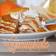 Creamsicle Protein Pancakes | fridaylovesong.net