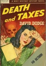Death and Taxes - Giclée Canvas Print of a Vintage Pulp Paperback Cover