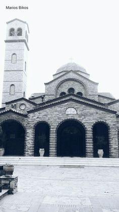#Church #orthodox #greece #thessaloniki #white #blue #blackandwhite