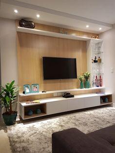 Amazing Modern TV Wall Decor Idea for Living Room Design Look Luxury - Istri Sholehah Living Room Tv Unit, Living Room Modern, Living Room Designs, Modern Tv Room, Tv Console Modern, Modern Tv Wall, Small Living, Tv Wall Design, Tv Unit Design