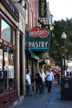 Modern Pastry, North End: better cannolis than Mikes because they make their own shells and fill them when you order.