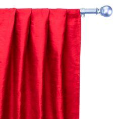 Extra Fabric, Red Fabric, Silk Fabric, Curtain Panels, Panel Curtains, Window Sizes, Custom Curtains, Box Pleats, Rod Pocket