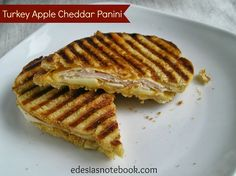 Turkey Apple Cheddar Panin....even though I don't eat meat anymore this still sounds good. I might make one on a special occasion