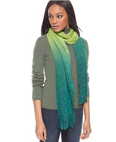 Cejon Scarf, Ombre Sparkle Scarf - Hats, Gloves & Scarves - Handbags & Accessories - Macy's