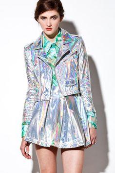 holographic jacket @MTV Iggy