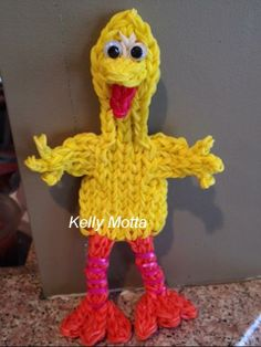 BIG BIRD designed and loomed by Kelly Serrell Motta. (Rainbow Loom FB page) Best one I've seen! No instructions at this time.