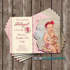 Lovely vintage girls birthday invitation by DazzleDesignGraphics, $10.00