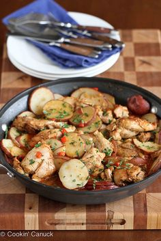 One-Pot Cumin & Smoked Paprika Chicken with Potatoes Recipe | cookincanuck.com #recipe #chicken by CookinCanuck, via Flickr