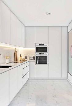 Modern Kitchen Interiors, Modern Kitchen Cabinets, Home Decor Kitchen, Interior Design Kitchen, Kitchen Countertops, Kitchen Furniture, New Kitchen, Cheap Furniture, Interior Livingroom