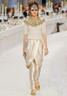 Indian Cultural Inspired to Fashion Catwalk. Chanel Pre-Fall 2012: Chanel Meets Bombay.