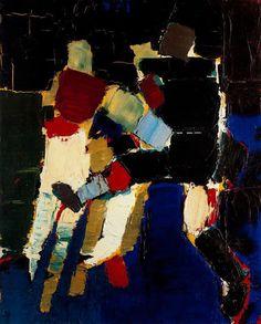Nicolas de Stael, Les Footballeurs, 1952 Oil on canvas, 80 x 65 cm Private collection