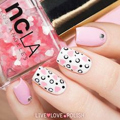Swatch of NCLA Be Mine! Nail Polish (Valentine's Day Collection)
