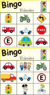 Atividades Escolares: Bingo do Trânsito Games For Kids, Art For Kids, Transportation Activities, Teaching Aids, Dramatic Play, Busy Book, Happy Kids, Kids Education, Preschool Activities