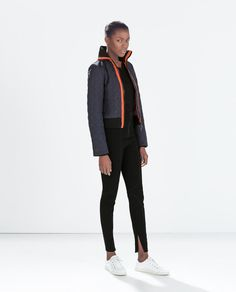 SHORT QUILTED JACKET from Zara