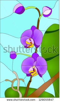 Find Orchid Stained Glass Window stock images in HD and millions of other royalty-free stock photos, illustrations and vectors in the Shutterstock collection. Stained Glass Quilt, Stained Glass Flowers, Stained Glass Crafts, Stained Glass Panels, Glass Painting Patterns, Stained Glass Patterns, Stained Glass Cabinets, Mosaic Glass, Glass Art