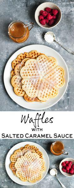Waffles with Salted Caramel Sauce | eatlittlebird.com