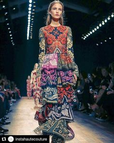 Gorgeous multicolor embroidered dress with ruffled details for @maisonvalentino q#Repost @instahautecouture (@get_repost)  @maisonvalentino #fashion #hautecouture #style #fashionista #chic #elegant #fashionblogger #beautiful #instafashion #embroidery #design #details #moda #trendy #trend #fashionable #designer #stylist #stylish #art #vogue #ootd #inspiration #dress #designer #accessories #beauty #streetstyle#wedding - Celebrity #Fashion Style Culture Couture Advertising Culture #Beauty…