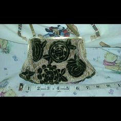 Selling this SANTI Vintage Small Evening Pursw Black Gold on Poshmark! My username is: shoe_shack. #shopmycloset #poshmark #fashion #shopping #style #forsale #Vintage #Handbags
