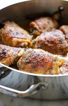 Pan Roasted Lemon Chicken Recipe