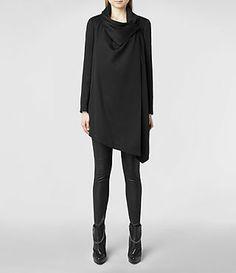 Womens Bayle Monument Coat (Black)   ALLSAINTS.com