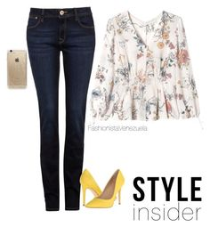 """""""Happy Day!!"""" by liz-chirinos-godoy on Polyvore featuring DL1961 Premium Denim, Rebecca Taylor, Charles by Charles David and Rifle Paper Co"""