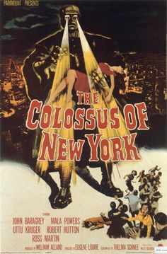 vintage movie poster: the colossus of new york 1958