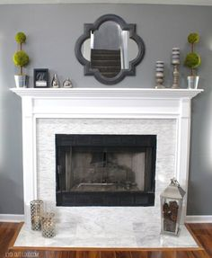 Fireplace Makeover - Lydi Out Loud