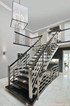Modern Staircase Design By Atelier Cachet Www.ateliercachet.com