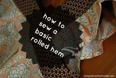 Day 23: How to sew a basic rolled hem
