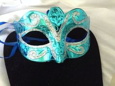 Shipping Packages are sent out within 24 hours of payment between Monday to Friday, we do not ship on weekends or during holidays. It normally takes business days to reach USA residents, and longe Sweet 16 Masquerade, Masquerade Theme, Masquerade Ball, Venice Mask, Turquoise, Aqua, Teal, Carnival Masks, Beautiful Mask