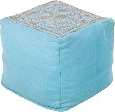 Sky Blue Surya Twist Pouf #modish #newitems