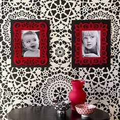 Parlor Lace Wall Stencil | Royal Design Studio