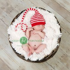 a christmas newborn baby - i am definitely making this baby an elf hat! And maybe Hay one to match haha