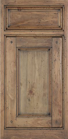 knotty pine with a stain, glaze & dramatic antiquing application. We are the manufacturer (StyleCraft Corporation)