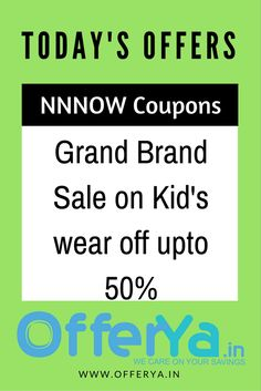 NNNOW Coupons: Grand Brand Sale on Kid's wear off upto 50%