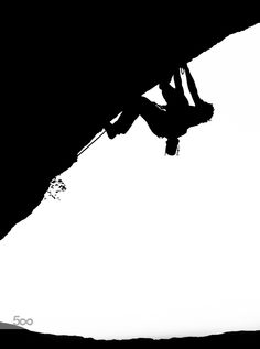 Rock Climbing Silhouette by Christoph_Oberschneider Sports Photos, Climbers, Rock Climbing, Cool Watches, Silhouette, Instagram, Photography, Image, Facebook